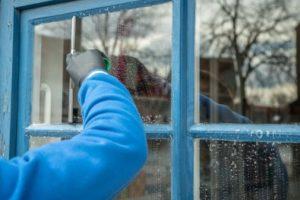 richtig Fenster putzen mit Abzieher